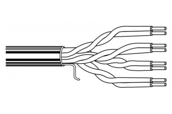 Utp kabel zwart