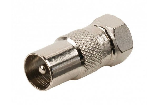 F CONNECTOR MALE NAAR COAX MALE