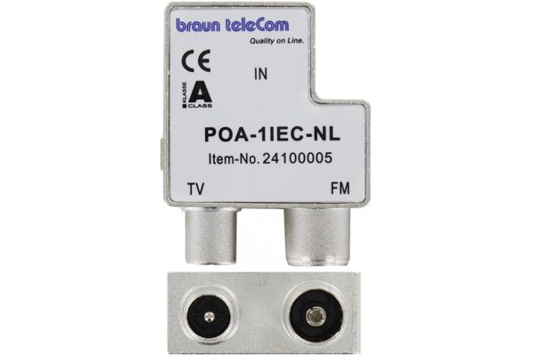 Braun POA 1 IEC NL opdruk iec filter r/tv (male-female)