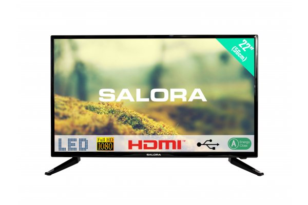 Salora 22 Inch LED Full HD pal Tuner 12 Volt DC Bente
