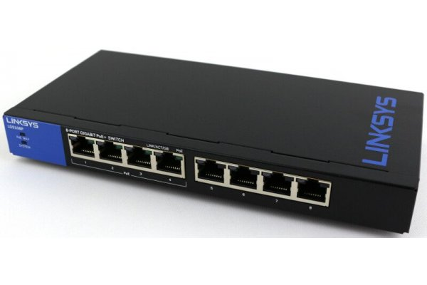 LINKSYS LGS108P-EU GIGABIT PoE -SWITCH MET 8 POORTEN