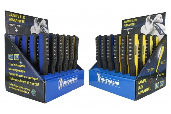 MICHELIN PENLIGHT LED MAGNEET DISPLAY 12X BLAUW 12X GEEL