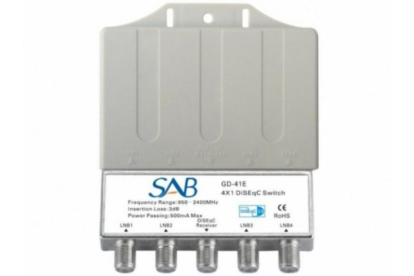 SAB DISEQC SWITCH 4 VOUDIG